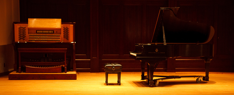 Piano in the hall